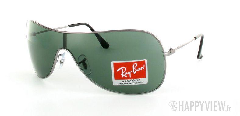 Lunettes de soleil Ray-Ban Ray-Ban RB3211 gris/vert - vue de 3/4