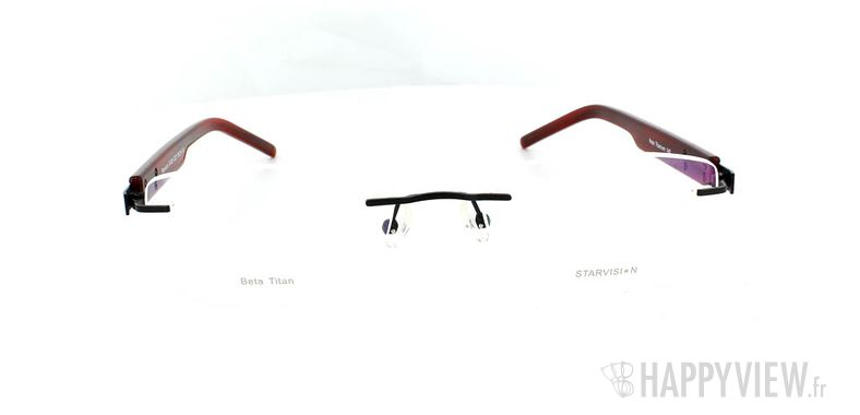 Lunettes de vue Starvision by Seiko Starvision 1026 Titane noir/rouge - vue de face