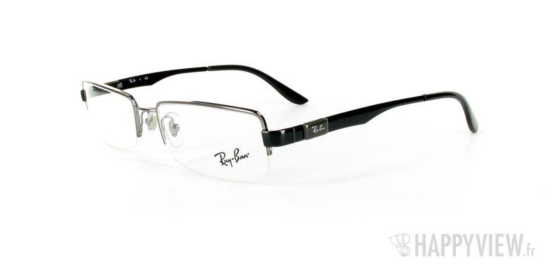 Lunettes de vue Ray-Ban Ray-Ban RX6156 noir - vue de 3/4