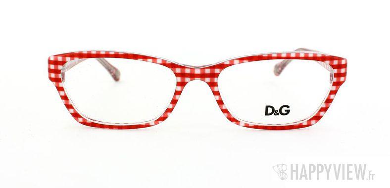 Lunettes de vue Dolce & Gabbana D&G 1216 rouge/blanc - vue de face