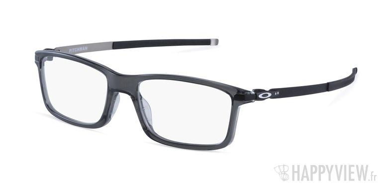 Lunettes de vue Oakley Pitchman gris - vue de 3/4
