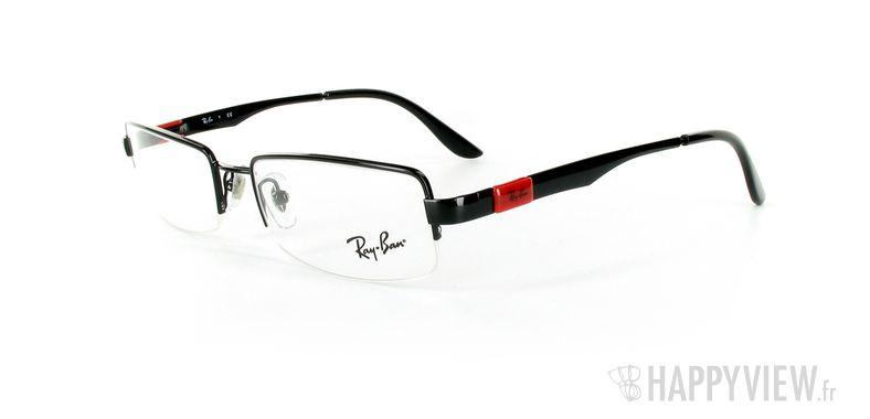 Lunettes de vue Ray-Ban Ray-Ban RX6156 noir/rouge - vue de 3/4