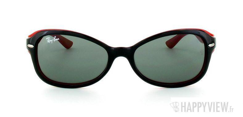 Lunettes de soleil Ray-Ban Ray-Ban Junior RJ9044S noir/rouge - vue de face