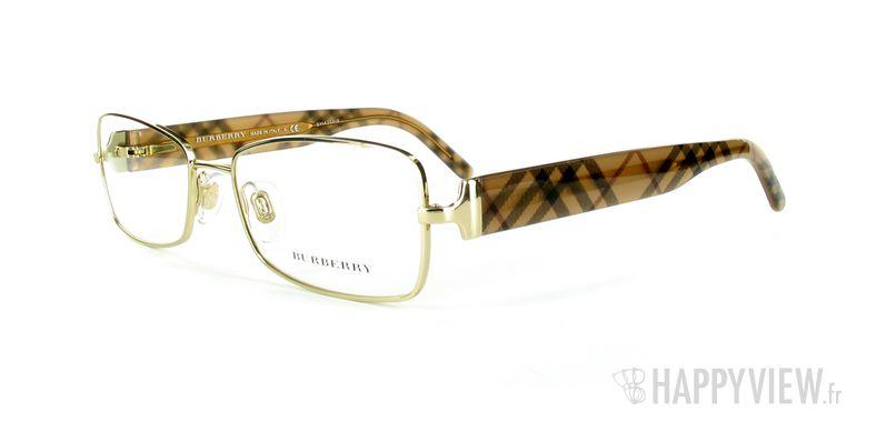 Lunettes de vue Burberry Burberry 1168 doré - vue de 3/4