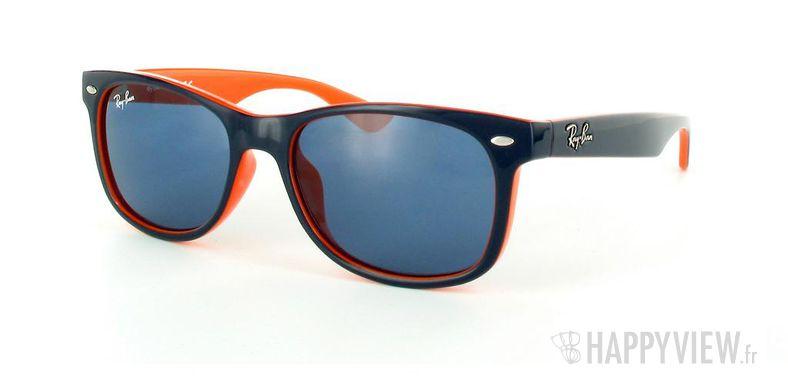 Lunettes de soleil Ray-Ban Ray-Ban Junior New Wayfarer bleu/orange - vue de 3/4