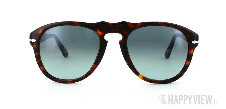 Lunettes de soleil Persol Persol 649S écaille/bleu - vue de face