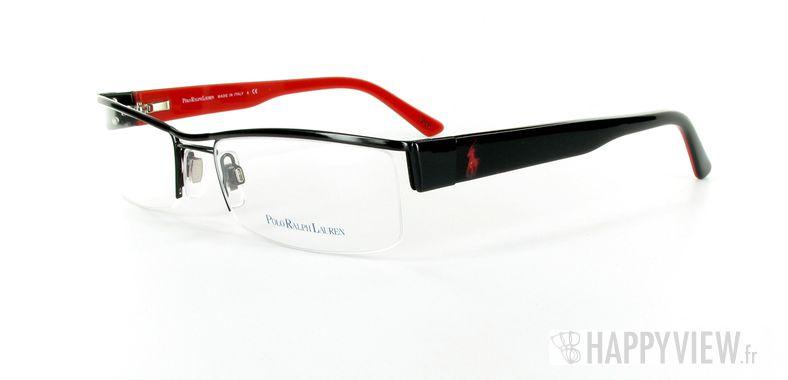 Lunettes de vue Polo Ralph Lauren Polo Ralph Lauren 1058 noir/rouge - vue de 3/4