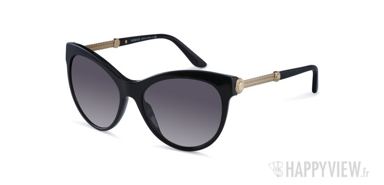 Lunettes de soleil Versace VE 4292 noir - vue de 3/4
