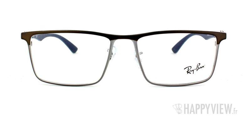 Lunettes de vue Ray-Ban Ray-Ban RX8409 Carbone argenté/marron - vue de face