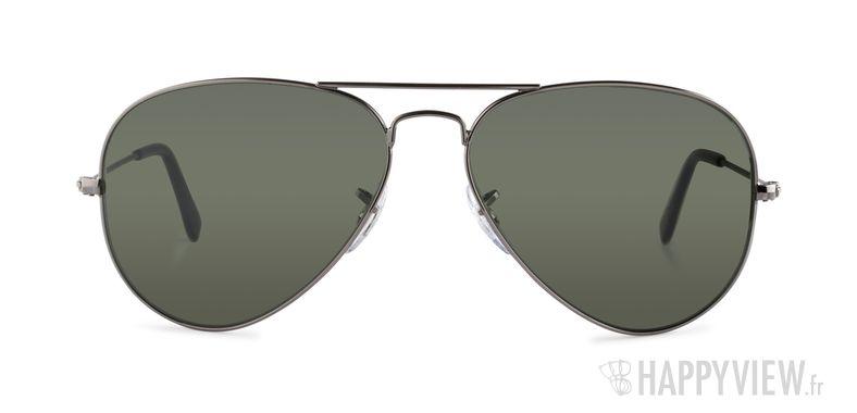 Lunettes de soleil Ray-Ban RB 3025 Aviator Large gris/vert - vue de face