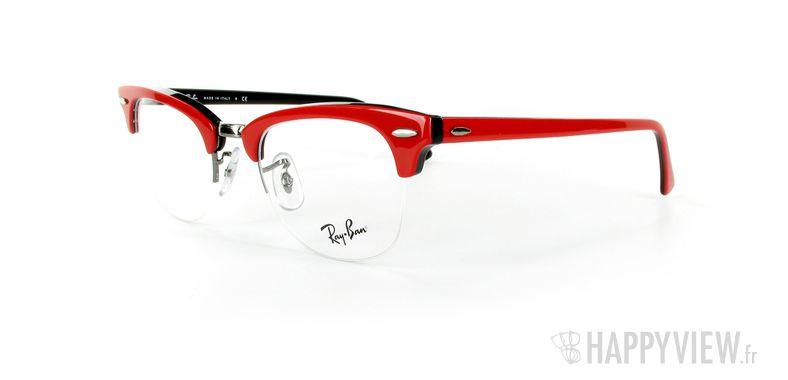 Lunettes de vue Ray-Ban Ray-Ban RX5201 New Clubmaster rouge - vue de 3/4