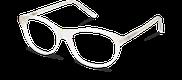 Lunettes de vue Happyview JEANNE blanc - vue de 3/4 miniature