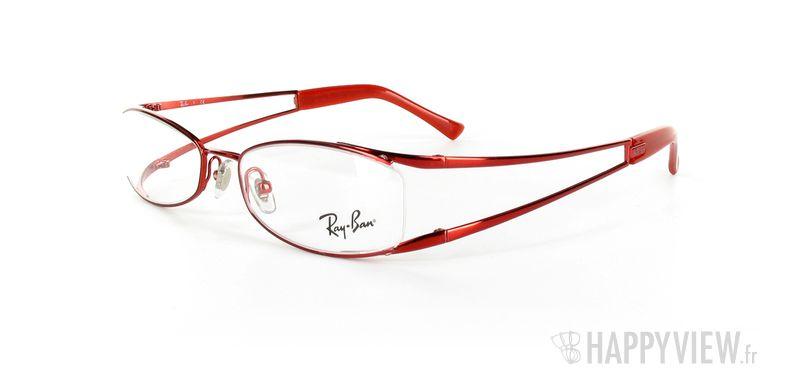 Lunettes de vue Ray-Ban Ray-Ban RX6091 rouge - vue de 3/4
