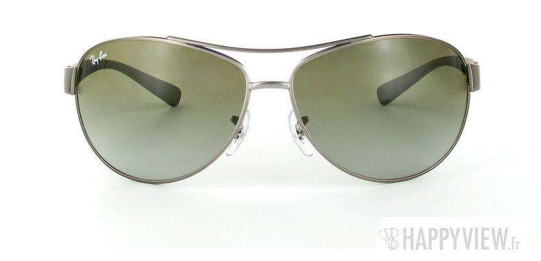 Lunettes de soleil Ray-Ban Ray-Ban RB3386 vert/argenté - vue de face