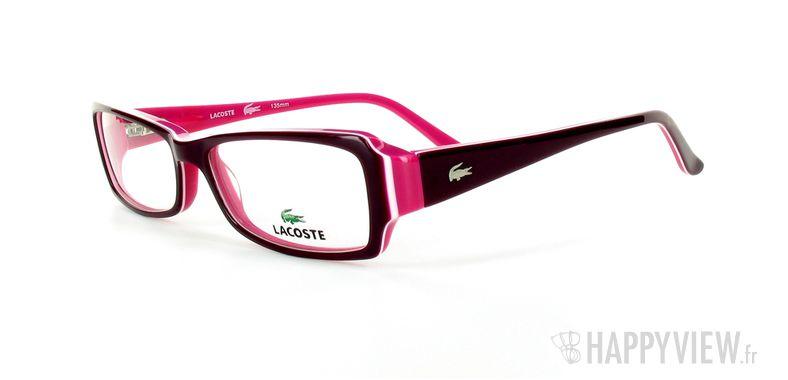 Lunettes de vue Lacoste Lacoste 12207 rose - vue de 3/4