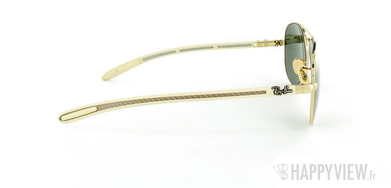 Lunettes de soleil Ray-Ban Ray-Ban Tech Aviator doré/marron - vue de côté