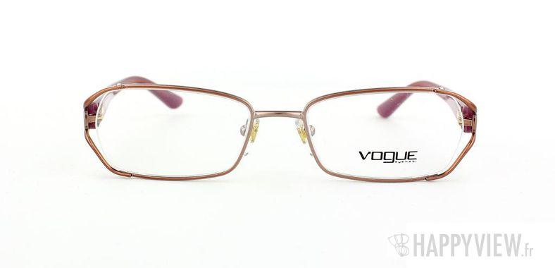 Lunettes de vue Vogue Vogue 3798B rose/marron - vue de face