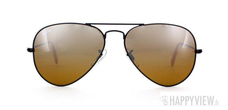 Lunettes de soleil Ray-Ban Ray-Ban Aviator Large noir/marron - vue de face