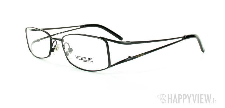 Lunettes de vue Vogue Vogue 3550 noir - vue de 3/4