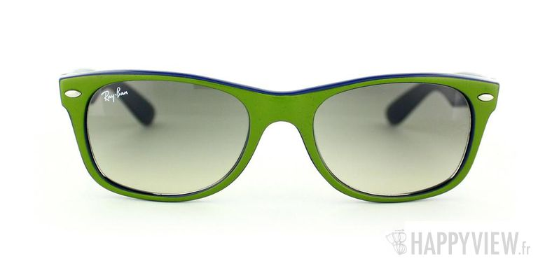 Lunettes de soleil Ray-Ban Ray-Ban New Wayfarer vert/bleu - vue de face