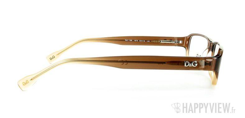 Lunettes de vue Dolce & Gabbana D&G 1188 marron - vue de côté