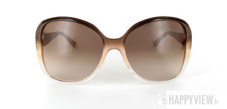 Lunettes de soleil Gucci Gucci 3126 marron/marron - vue de face