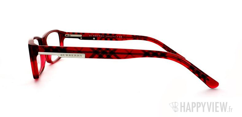 Lunettes de vue Burberry Burberry 2077 rouge - vue de côté