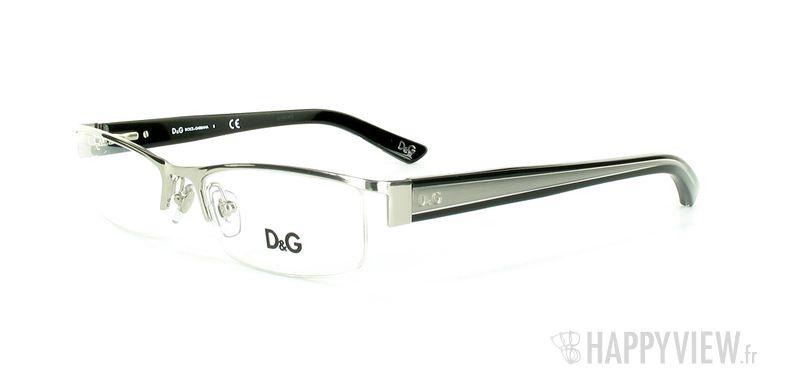 Lunettes de vue Dolce & Gabbana D&G 5069 argenté/noir - vue de 3/4