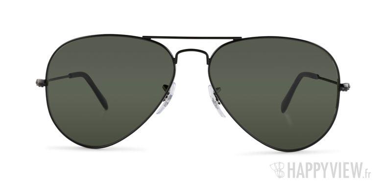 Lunettes de soleil Ray-Ban RB 3025 Aviator Large noir - vue de face
