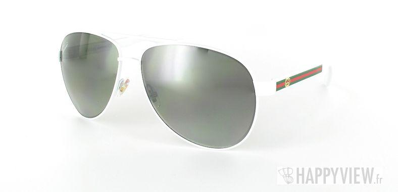 Lunettes de soleil Gucci Gucci 2898 blanc - vue de 3/4