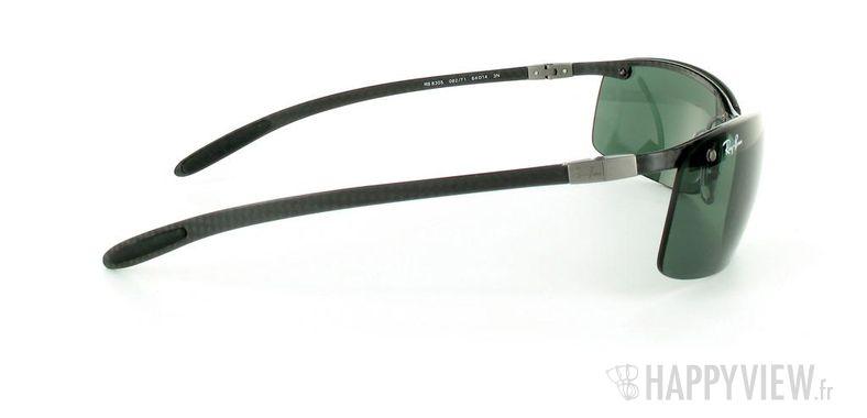 Lunettes de soleil Ray-Ban Ray-Ban Tech RB8305 noir/vert - vue de côté