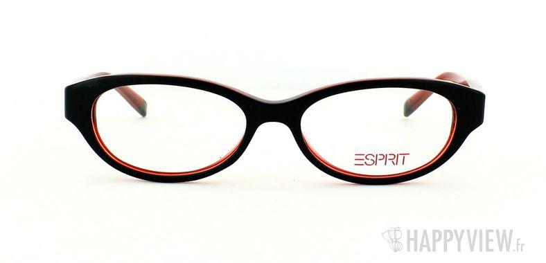 Lunettes de vue Esprit Esprit 17342 noir/rouge - vue de face