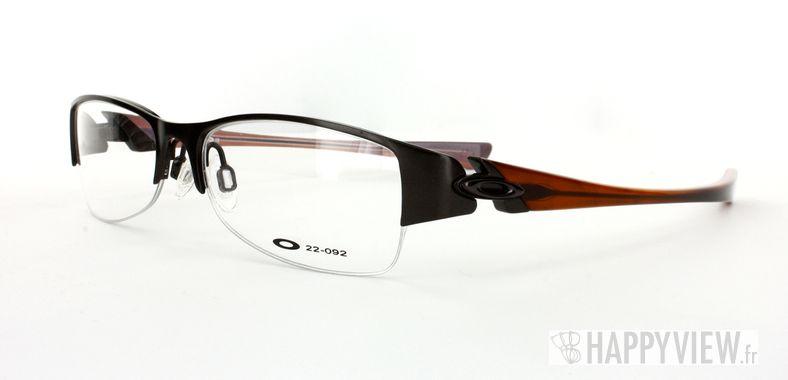 Lunettes de vue Oakley Oakley Treaty 2.0 marron/bleu Fabriquées en France - vue de 3/4