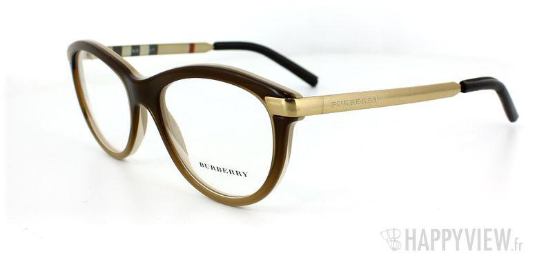 Lunettes de vue Burberry Burberry 2126Q marron - vue de 3/4