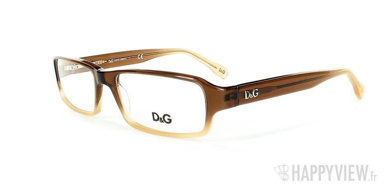 Lunettes de vue Dolce & Gabbana D&G 1188 marron - vue de 3/4