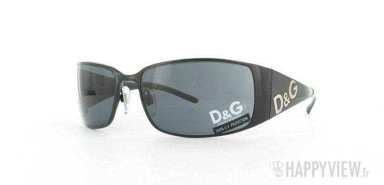 Lunettes de soleil Dolce & Gabbana D&G 6010 noir - vue de 3/4