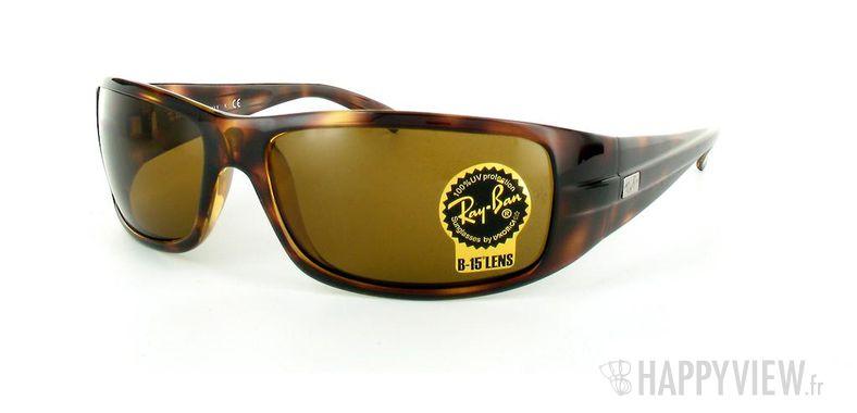 Lunettes de soleil Ray-Ban Ray-Ban RB4057 écaille - vue de 3/4
