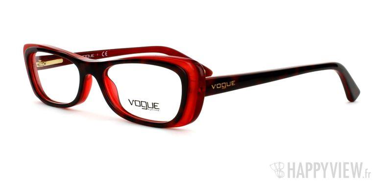Lunettes de vue Vogue Vogue 2707 rouge/écaille - vue de 3/4