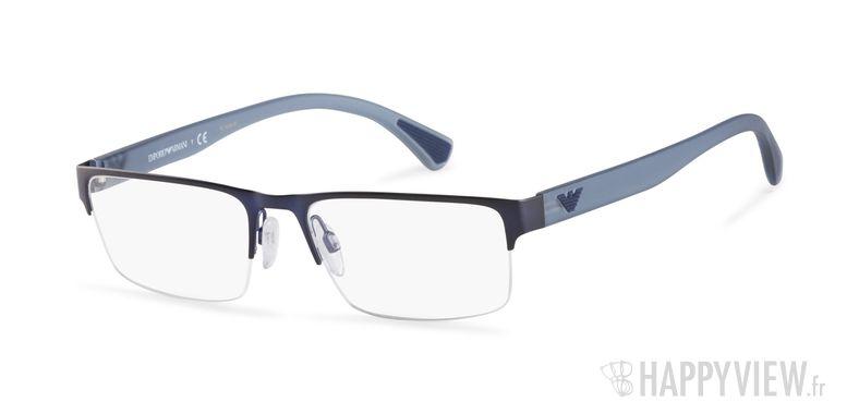 Lunettes de vue Emporio Armani EA 1050 bleu - vue de 3/4