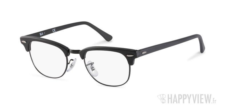 Lunettes de vue Ray-Ban RX 5154 Clubmaster noir - vue de 3/4