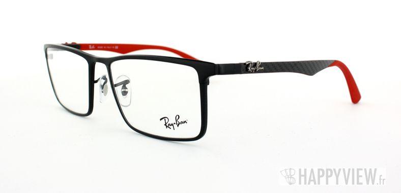 Lunettes de vue Ray-Ban Ray-Ban RX8409 Carbone noir/rouge - vue de 3/4