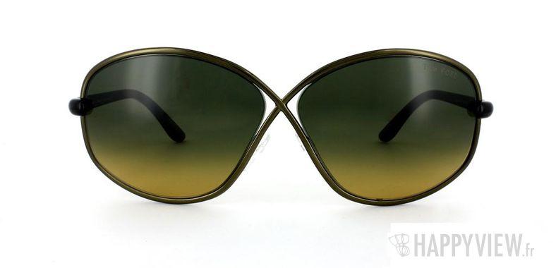 Lunettes de soleil Tom Ford Tom Ford Brigitte marron/écaille - vue de face