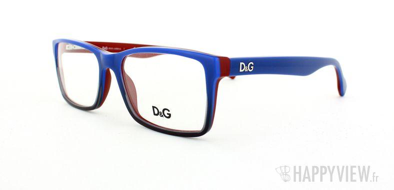 Lunettes de vue Dolce & Gabbana D&G 1233 bleu/rouge - vue de 3/4