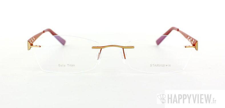 Lunettes de vue Starvision by Seiko Starvision 1007 Titane doré/rose - vue de face