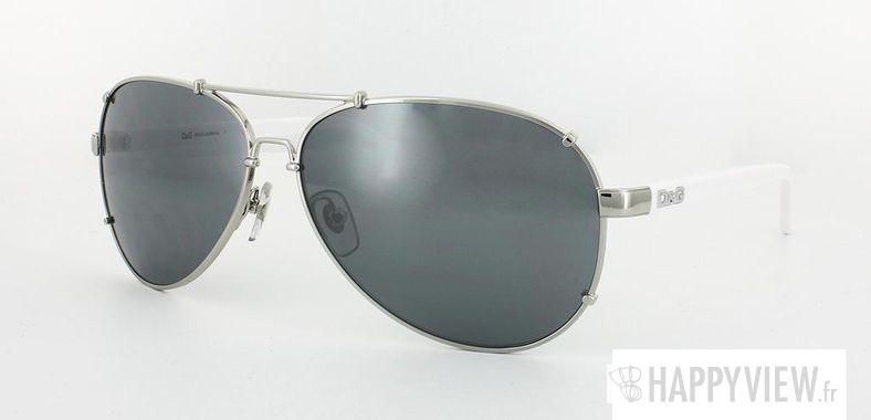 Lunettes de soleil Dolce & Gabbana Dolce&Gabbana 6047 argenté/blanc - vue de 3/4