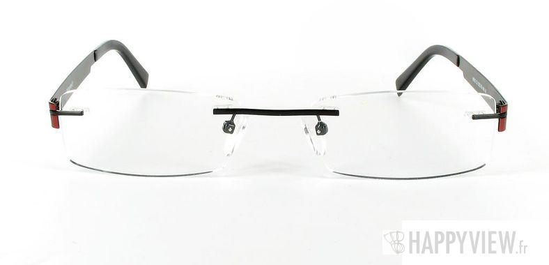 Lunettes de vue Happyview Arvika rouge/noir - vue de face