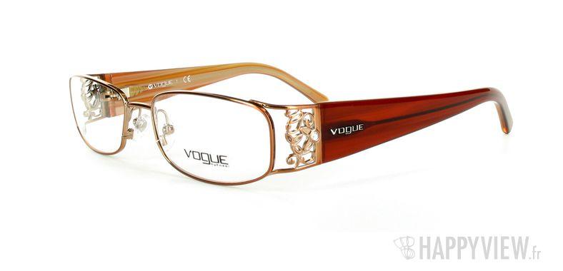 Lunettes de vue Vogue Vogue 3661B marron - vue de 3/4