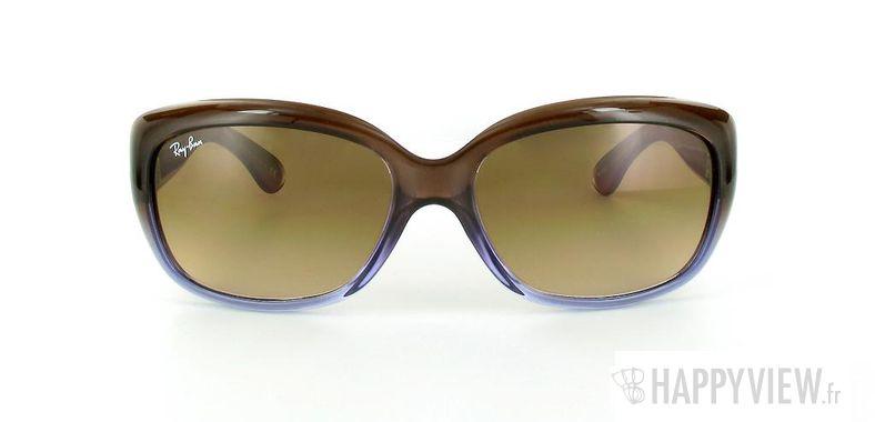 Lunettes de soleil Ray-Ban Ray-Ban Jackie OHH RB4101 bleu/marron - vue de face