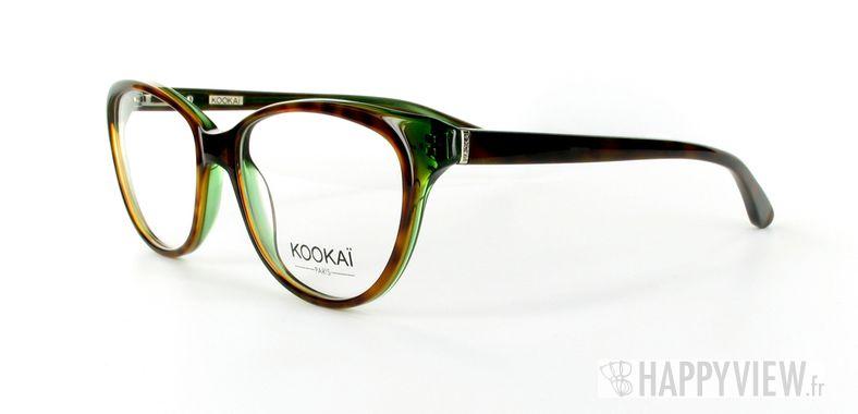 Lunettes de vue Kookaï Kookai 101 écaille/vert - vue de 3/4