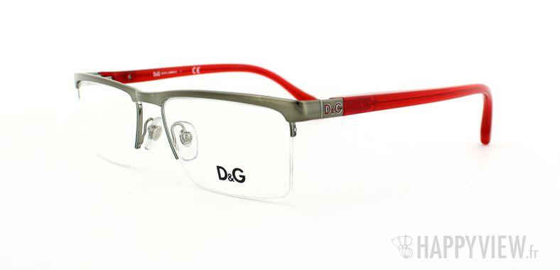 Lunettes de vue Dolce & Gabbana D&G 5104 gris/rouge - vue de 3/4